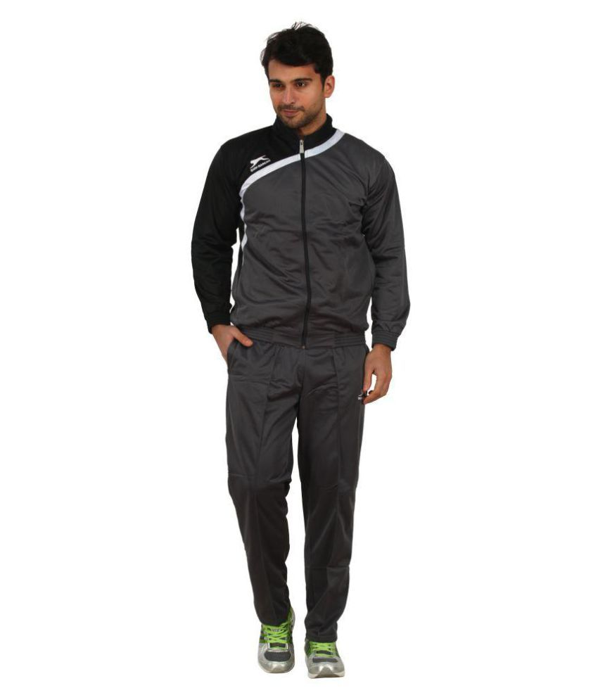 Shiv Naresh Grey Polyester Track Suit