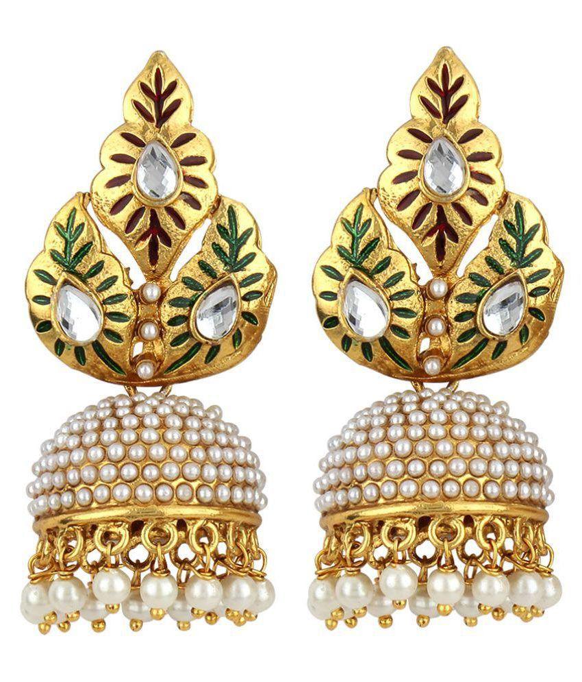 Jewels Guru Multicolour Jhumki Earrings
