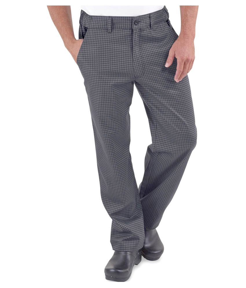Superb Uniforms Grey Regular Flat Trousers