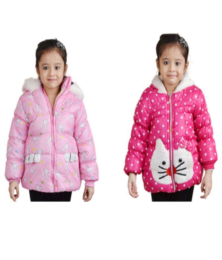Crazeis Pink Nylon Jacket - Pack of 2