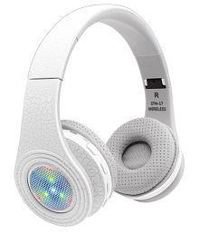 Head Nix STN-17 Over Ear Wireless Headphones With Mic White