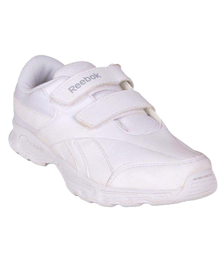 53deb2296 Reebok White School Shose For Boys Price in India- Buy Reebok White School  Shose For Boys Online at Snapdeal
