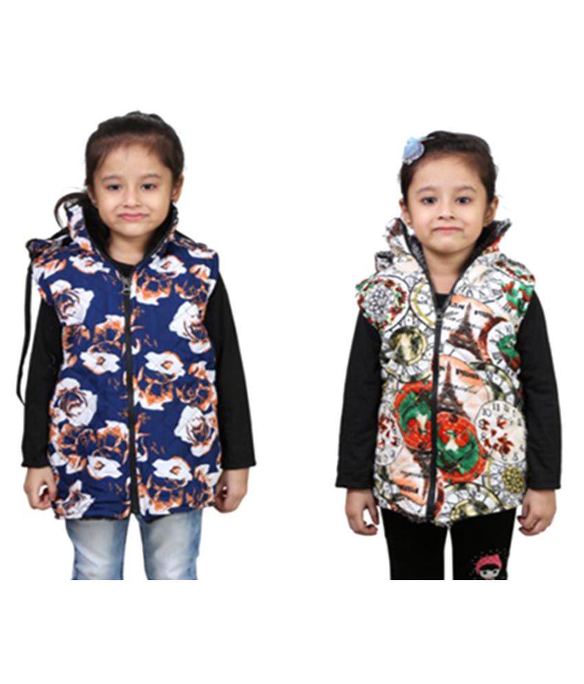 Qeboo Multicolor Jackets - Pack of 2