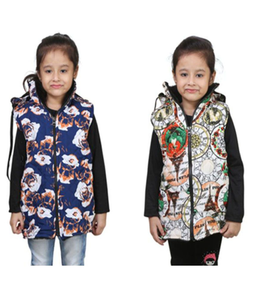 Crazies Multicolor Nylon Jacket - Pack of 2
