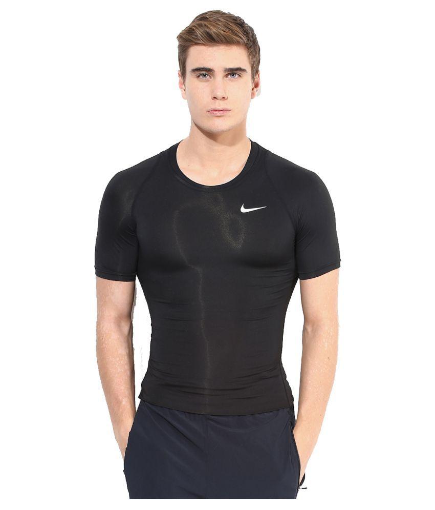 Nike Black Polyester T-Shirt
