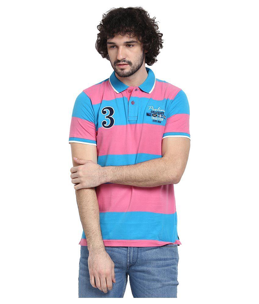 Proline Blue Cotton Polo T-shirt