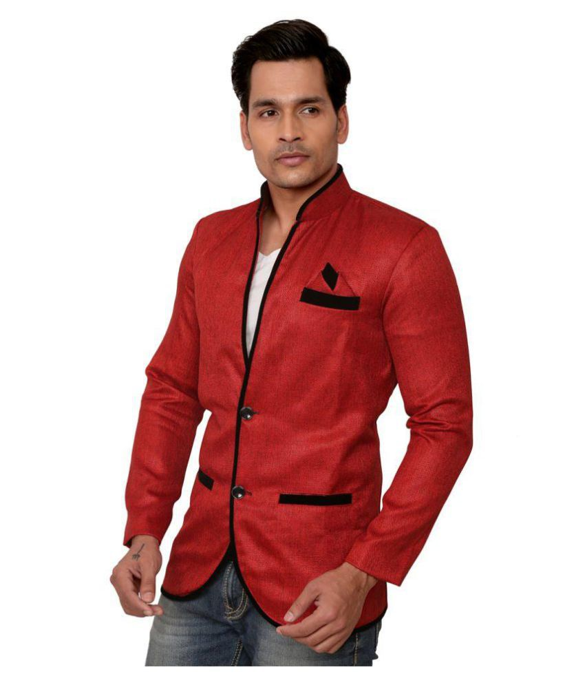 Trustedsnap Red Solid Party Blazers