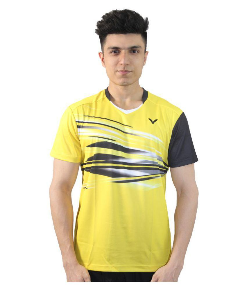 Victor Yellow Polyester T-Shirt