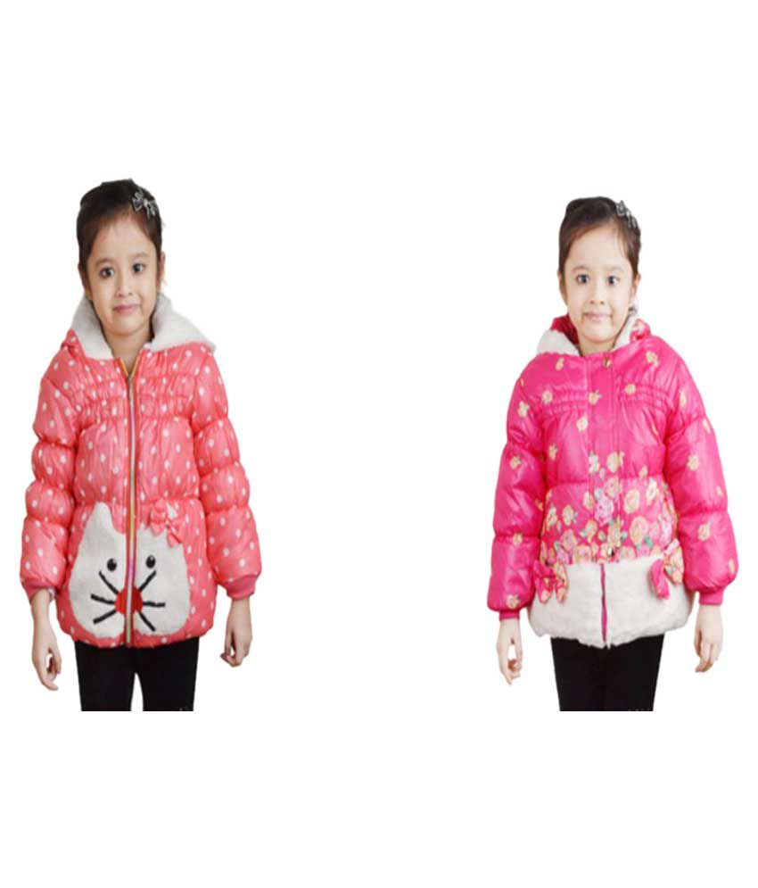 Qeboo Multicolor Quilted Jacket - Pack of 2