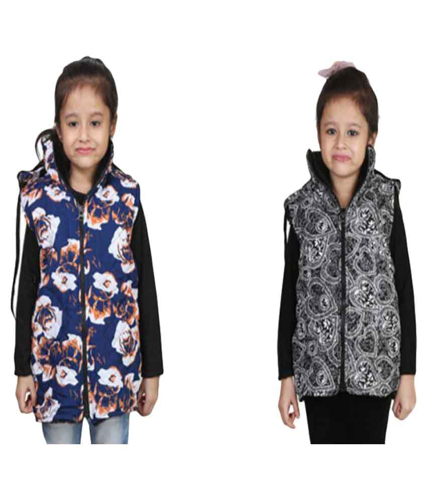 Crazeis Multicolor Quilted Jacket - Pack of 2