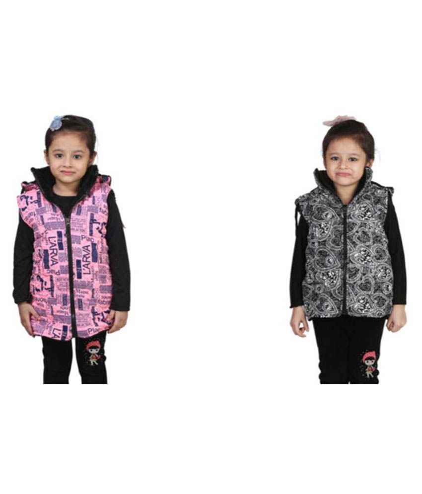Crazies Multicolor Jacket For Girl - Pack of 2