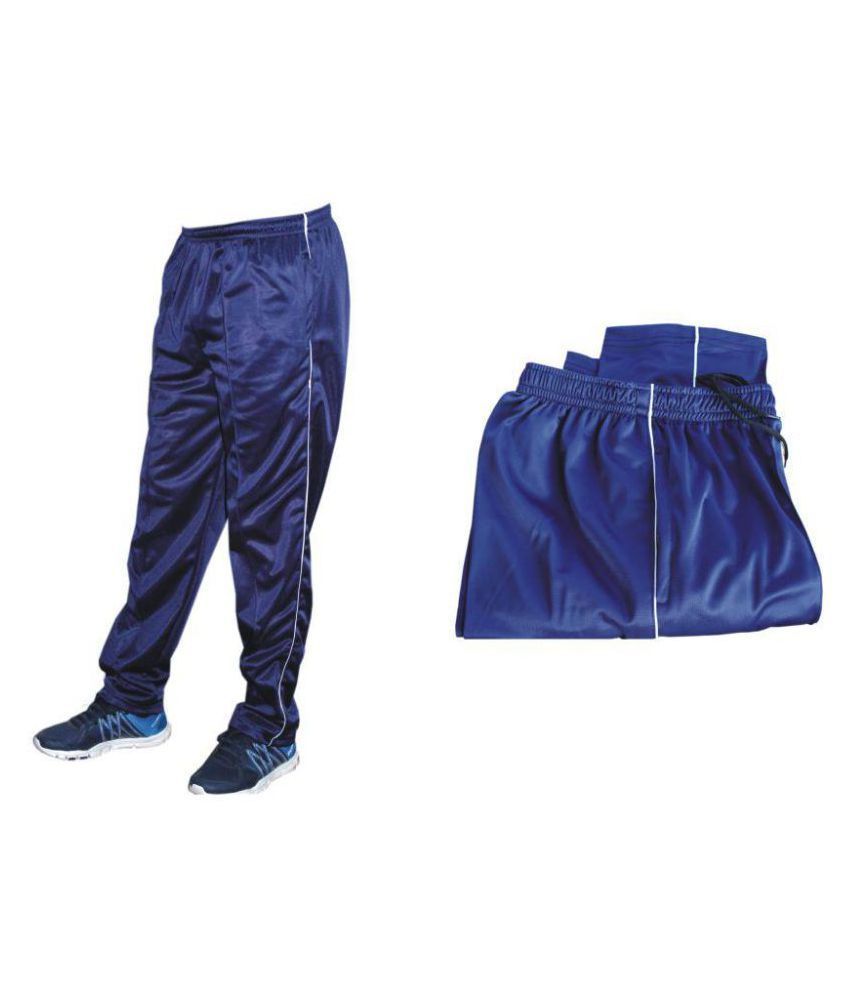 Store At Ur Door Blue Polyester Trackpant