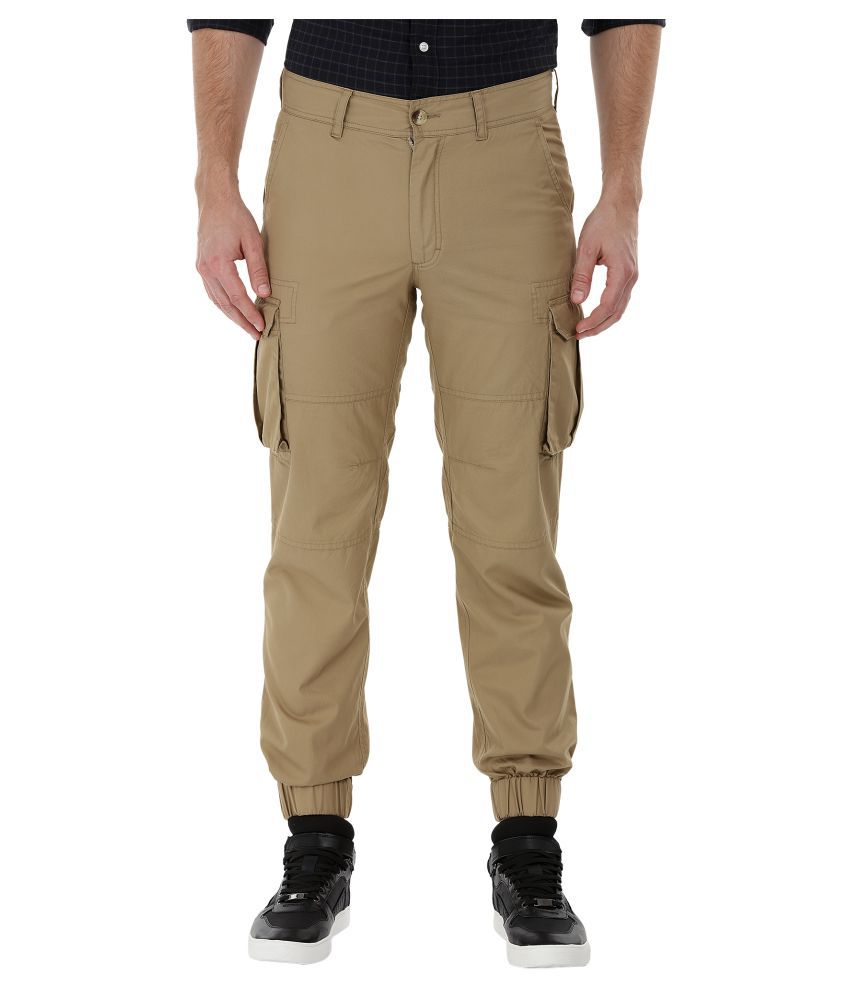 Zobello Brown Regular Flat Cargos