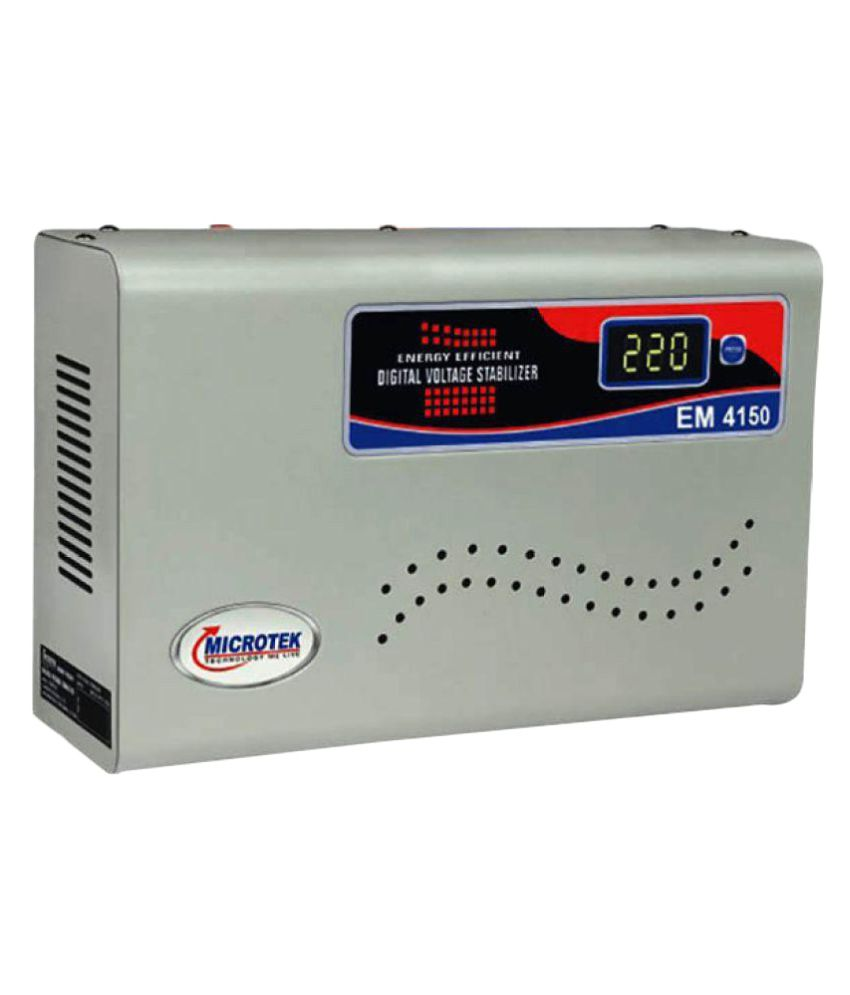 Microtek EM-4150 Microtek Suitable For AC (Upto 1.5 Ton) Stabilizer