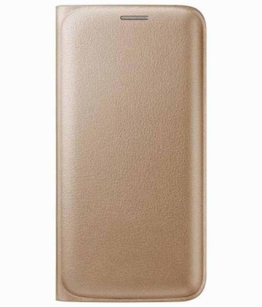 Gionee P5w Flip Cover by G-MOS - Golden