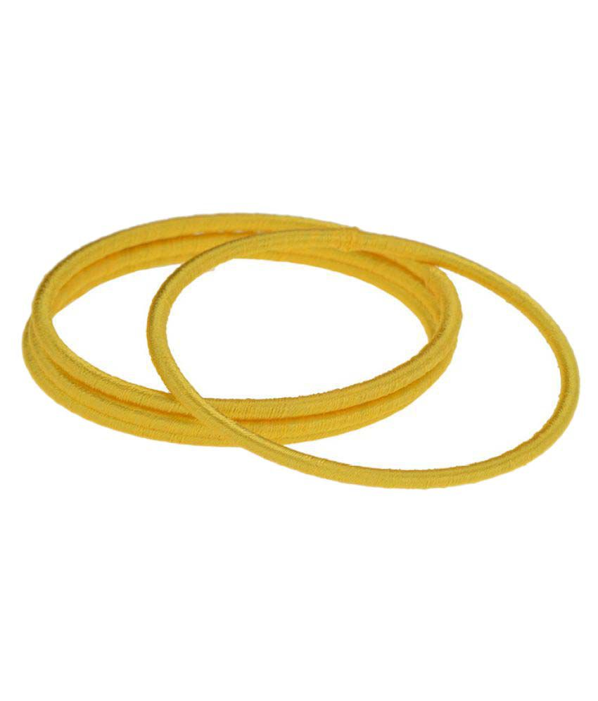 Arihant Jewels Yellow Bangle Set