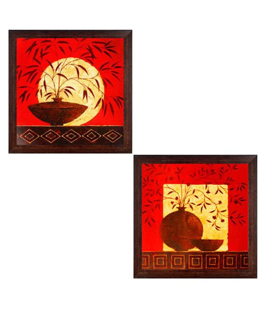 Ray Decor Still Life Paper Painting With Frame Set of 2