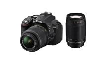 Nikon D5300 with AF-P DX NIKKOR 18mm-55mm f/3.5-5.6G VR Lens + AF-P DX NIKKOR 70mm-300mm f/4.5-6.3G ED VR Lens , Memory card and Bag