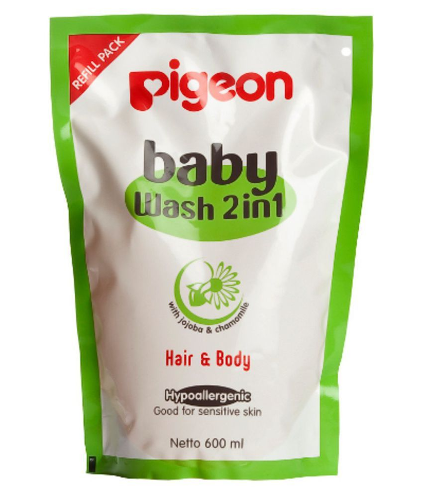 Pigeon Baby Natural Baby Body Wash 600 ml ( 2 pcs )