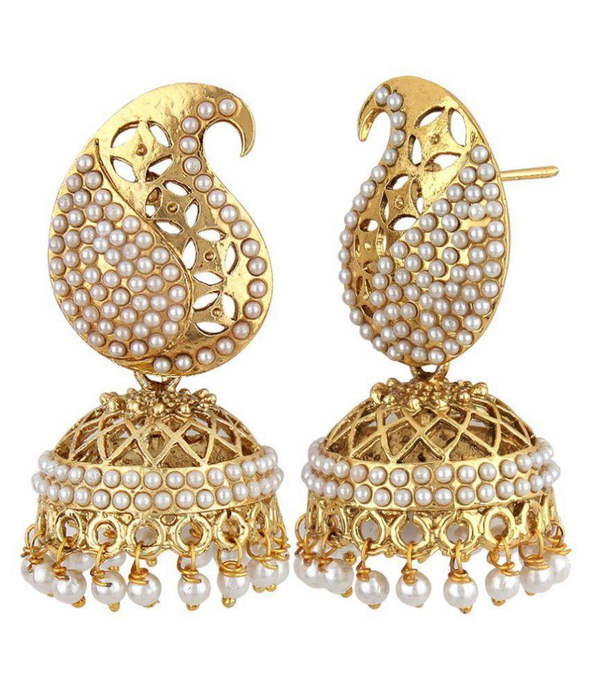 Styylo Fashion Golden Jhumkis