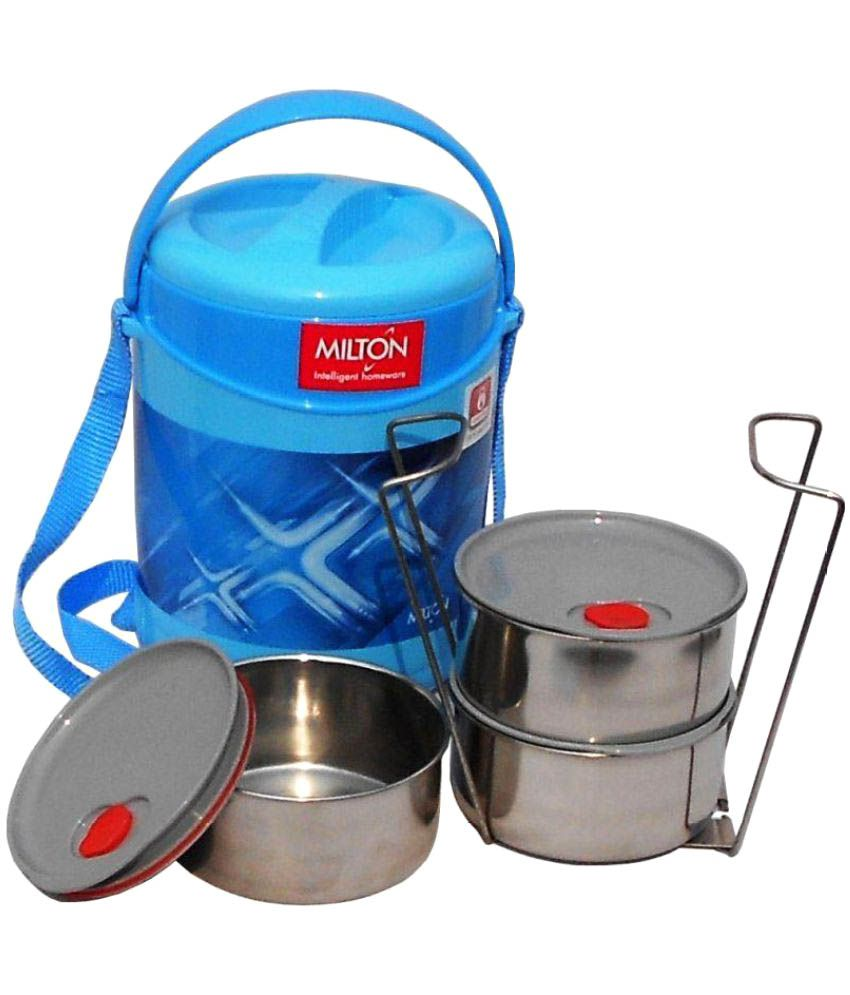 milton blue stainless steel lunch box buy online at best price in rh snapdeal com