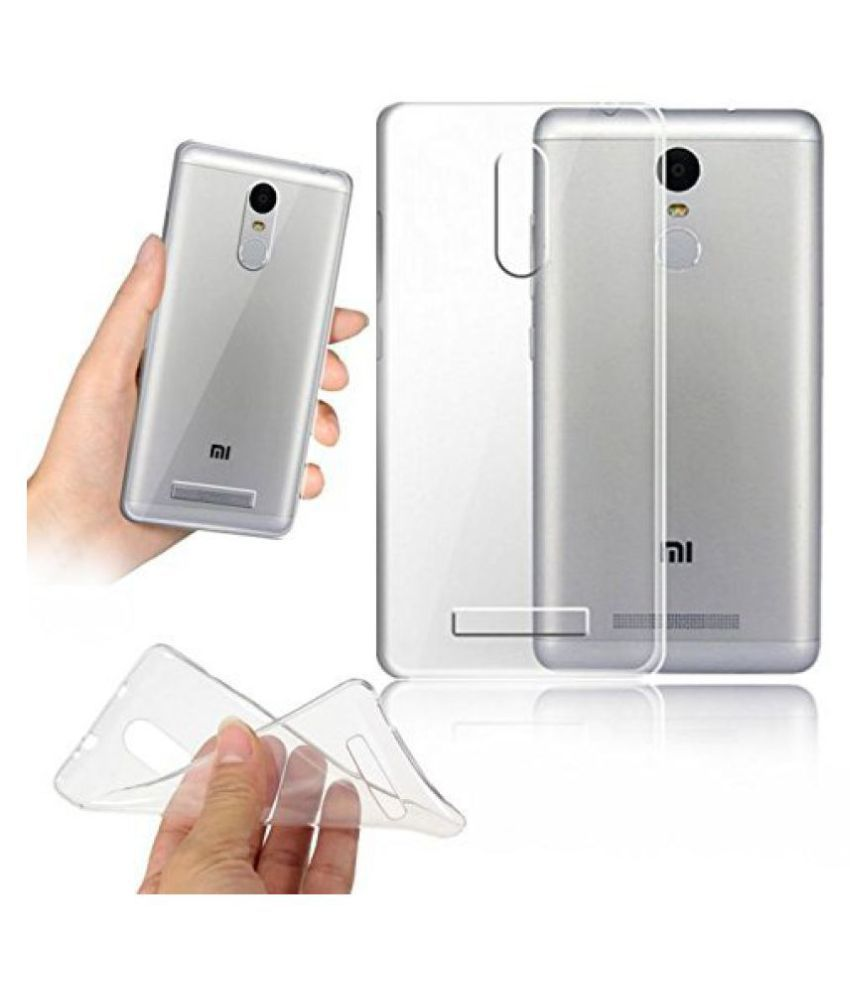 Dashmesh Shopping Ultra 0.3mm Thin Clear Transparent Flexible Soft TPU Slim Back cover Compatible for Xiaomi Redmi Note 3 Note3 (Transparent)