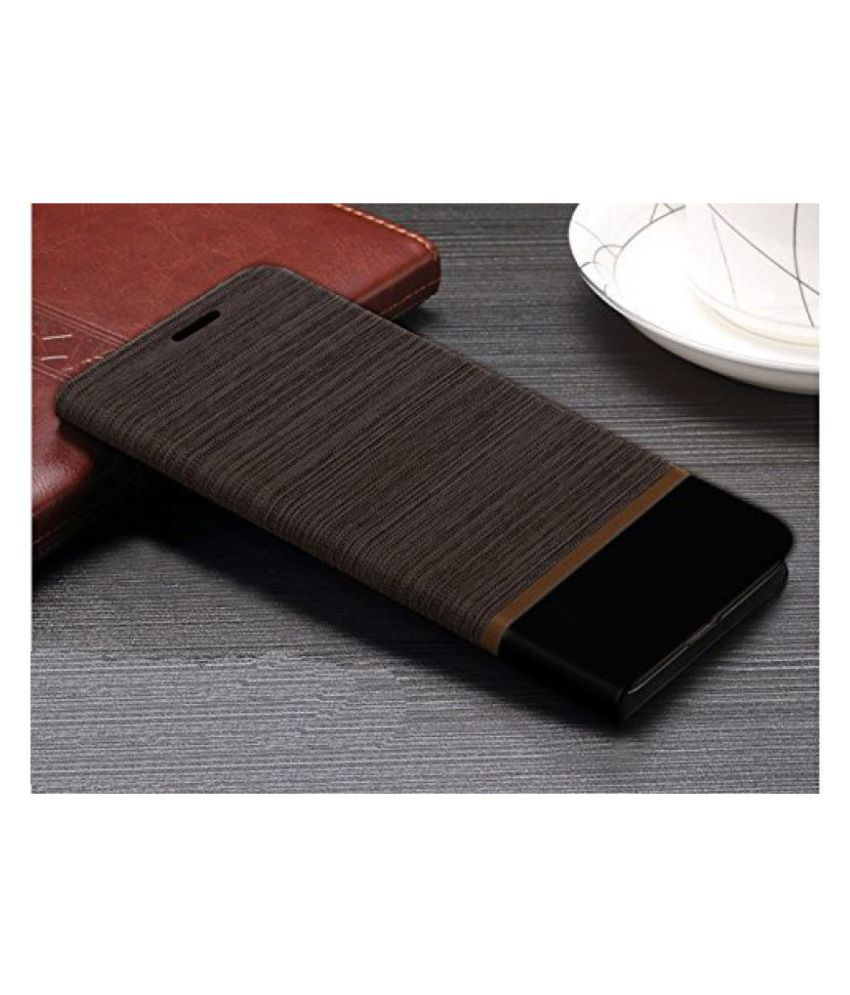 Febelo Redmi Note 3 Brown Black Professional Design Customised Perfect Fitting Video Stand View Flip Cover Case for Xiaomi Redmi Note 3 - (Brown With Black Color)