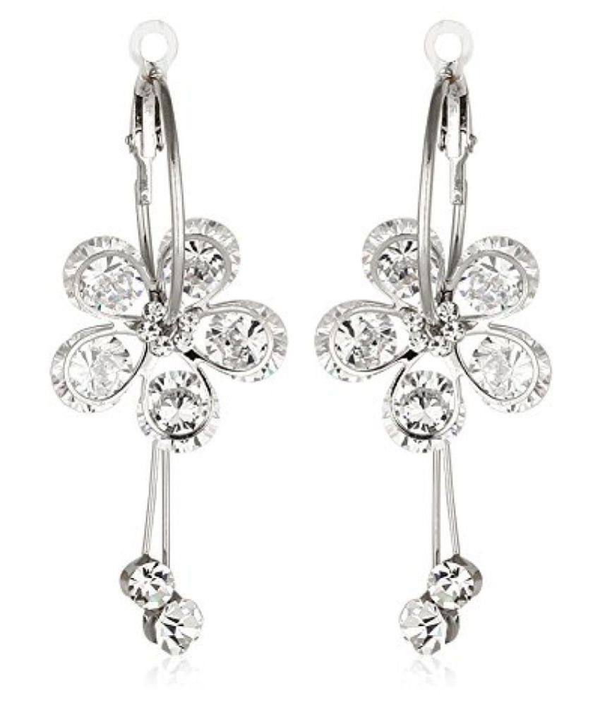Jewels Galaxy Platinum Luxuria AAA Diamond Earring Limited Collection