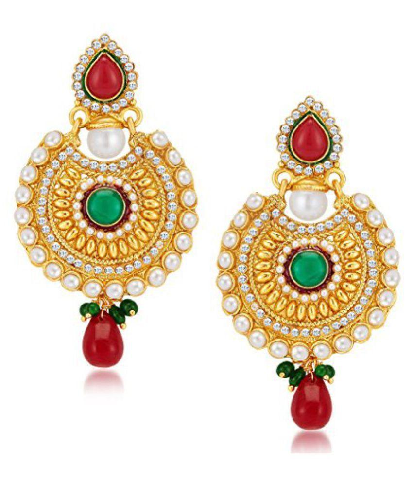 Sukkhi Pleasing Gold Plated Dangle & Drop Earrings for Women