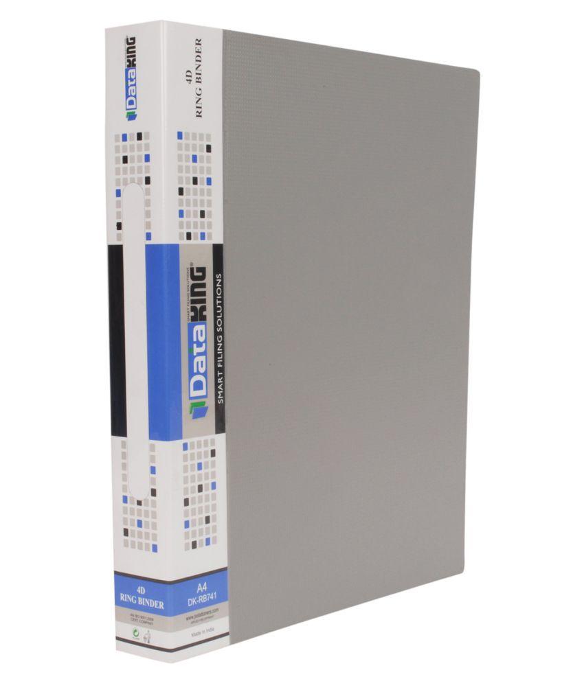 Dataking Grey 4D Ring Binder File Set of 2