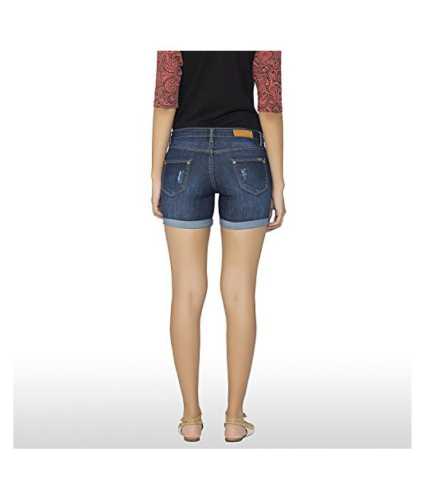 8fc76f34439 Buy Kraus Jeans Women s Denim Shorts Online at Best Prices in India ...