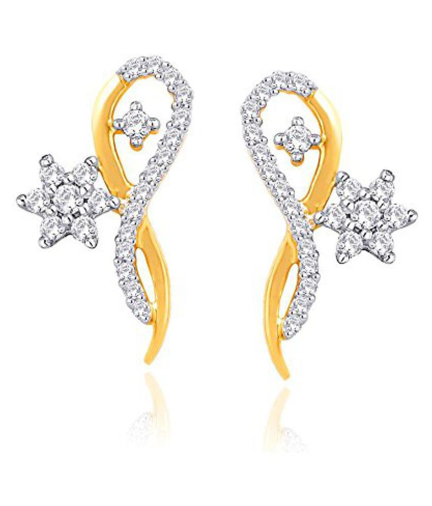 Nakshatra Yellow Gold and Diamond Stud Earrings