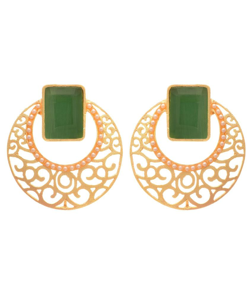JFL - Jewellery For Less Green Earrings