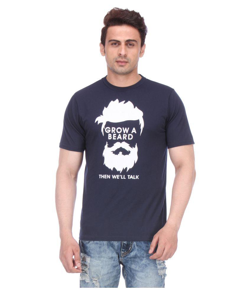 Miraar Navy Round T-Shirt