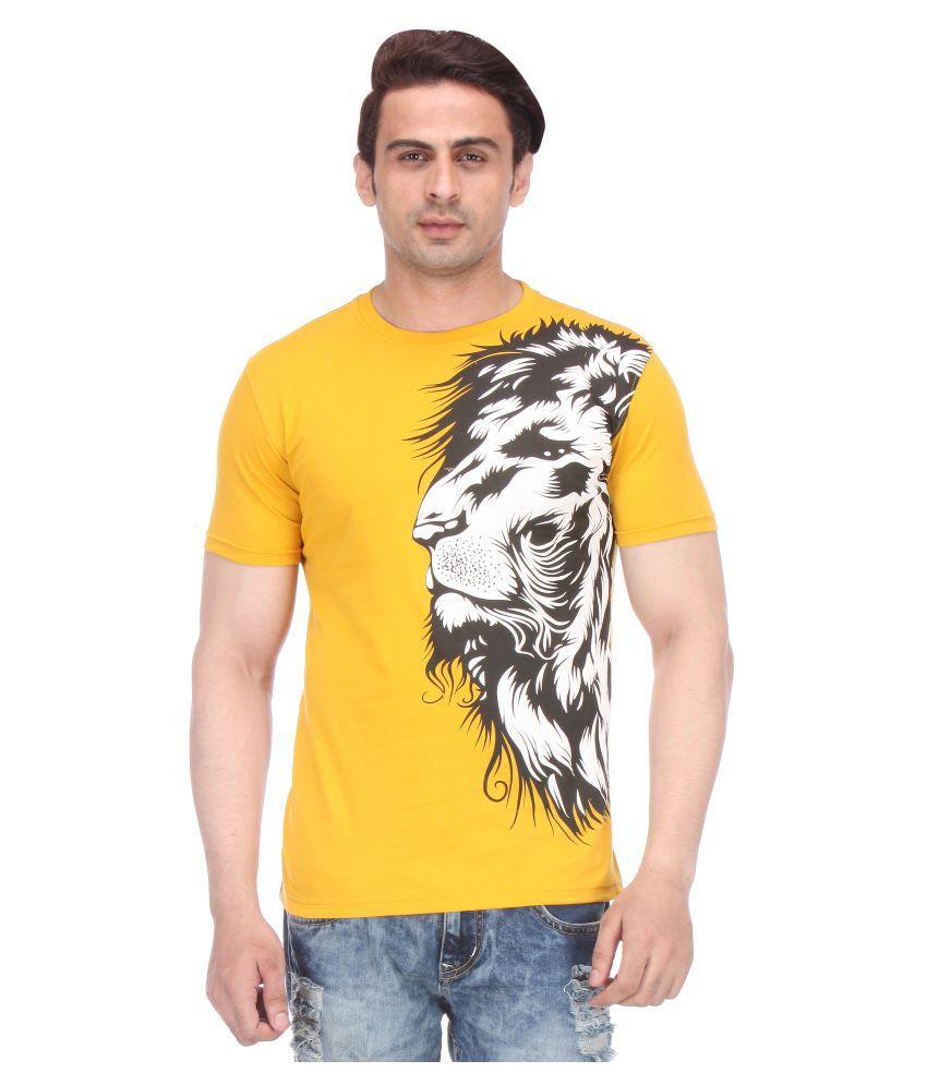 Miraar Yellow Round T-Shirt