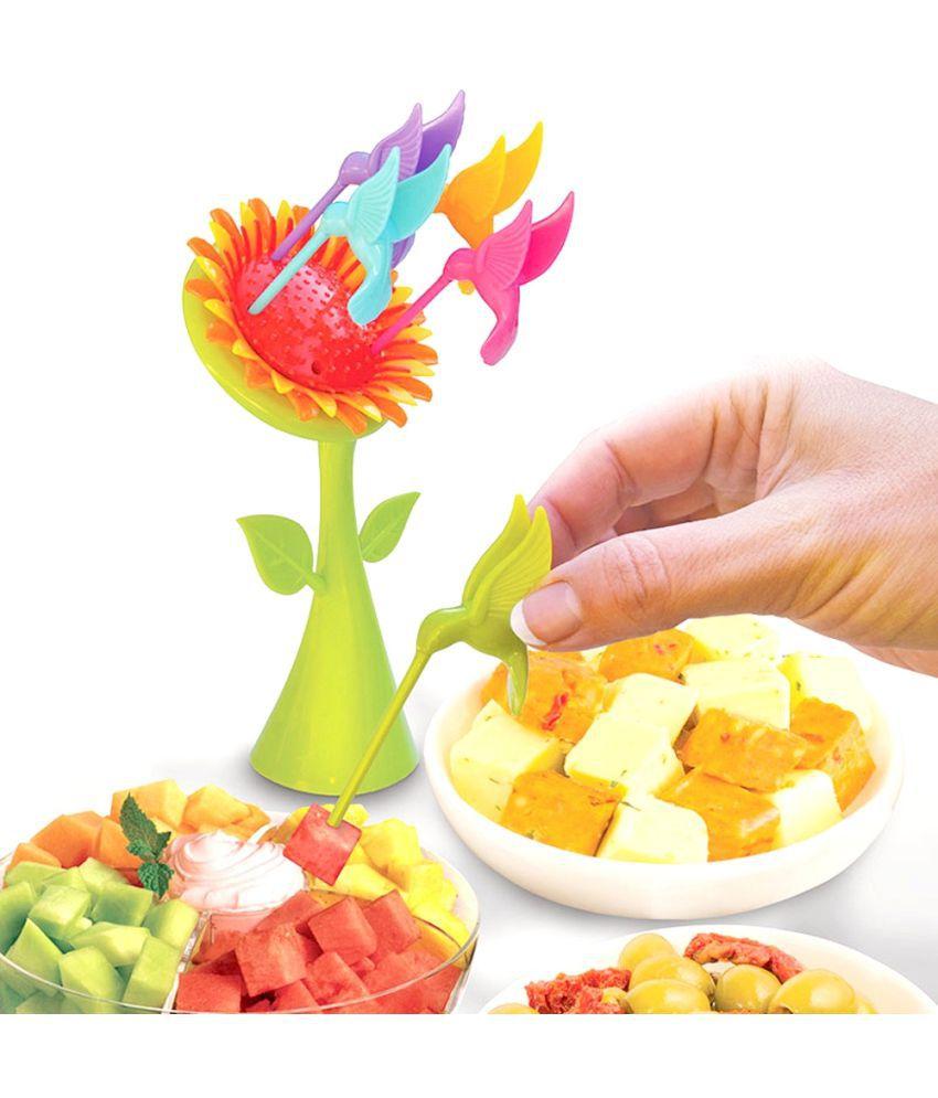 Skykitchen 6 Pcs Plastic Fruit Fork: Buy Online at Best ...