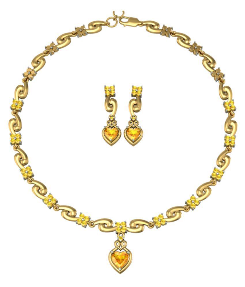 Suvarnadeep 92.5 Silver Necklace Set