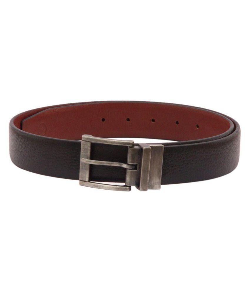 Viari Black Leather Formal Belts
