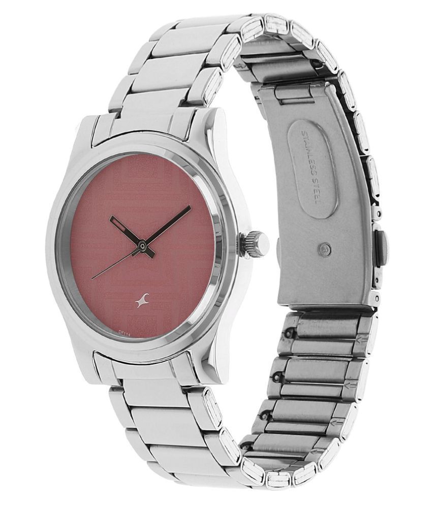 a851863d6 ... Fastrack Pink Dial Analog Stainless Steel Watch for Women-NF6046SM02J  ...
