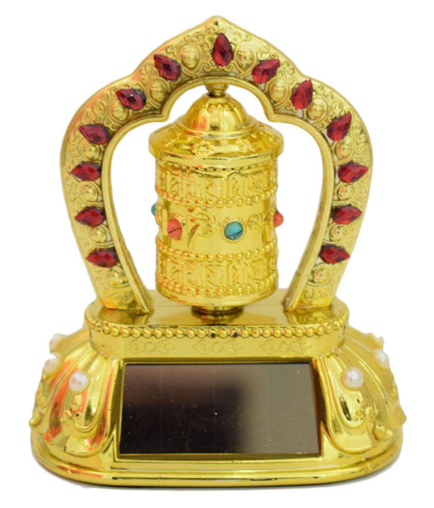 Tibetian prayer wheel Feng Shui Dashbaord Golden