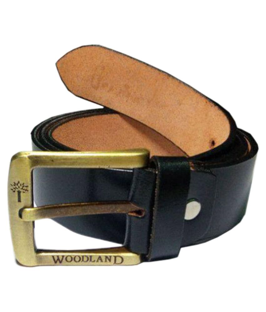 woodland black leather formal belts available at snapdeal