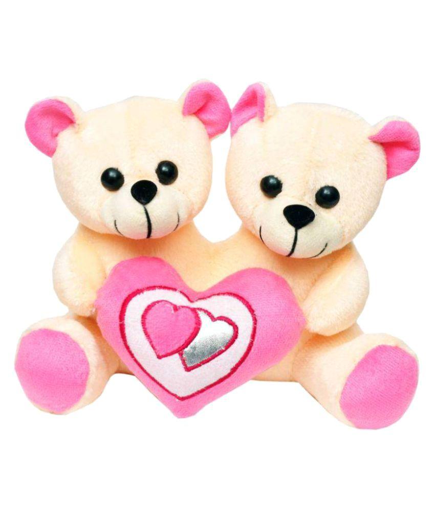 tabby toys cute couple teddy with heart 22cm buy tabby toys cute