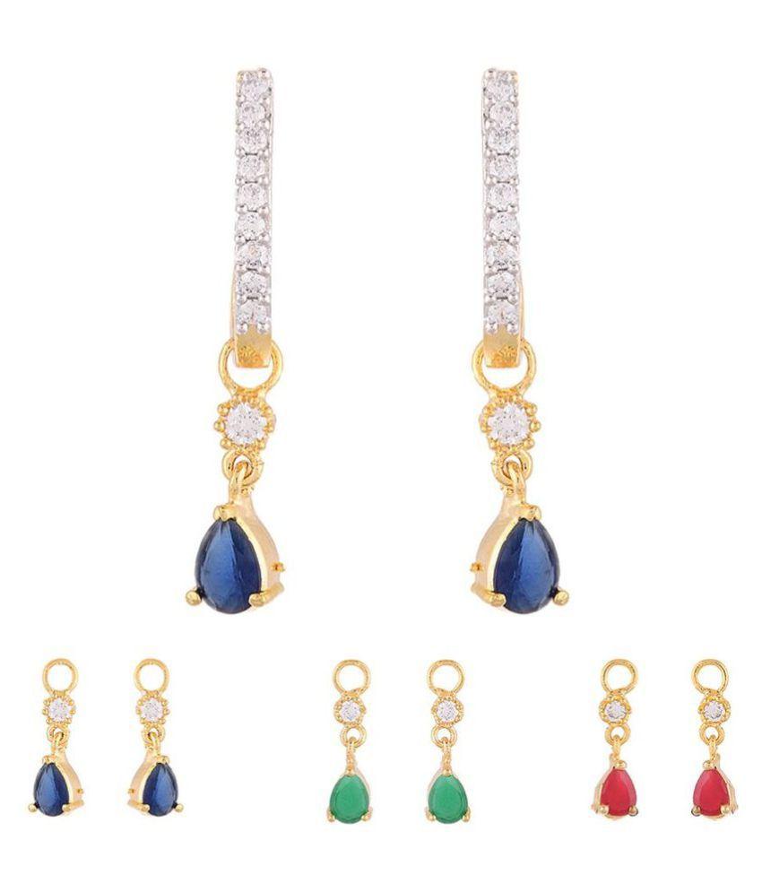 Bandish Multicolour Drop Earrings - Pair of 3