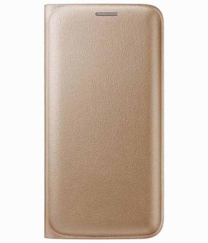 Samsung Galaxy Core Prime Flip Cover by Trap - Golden