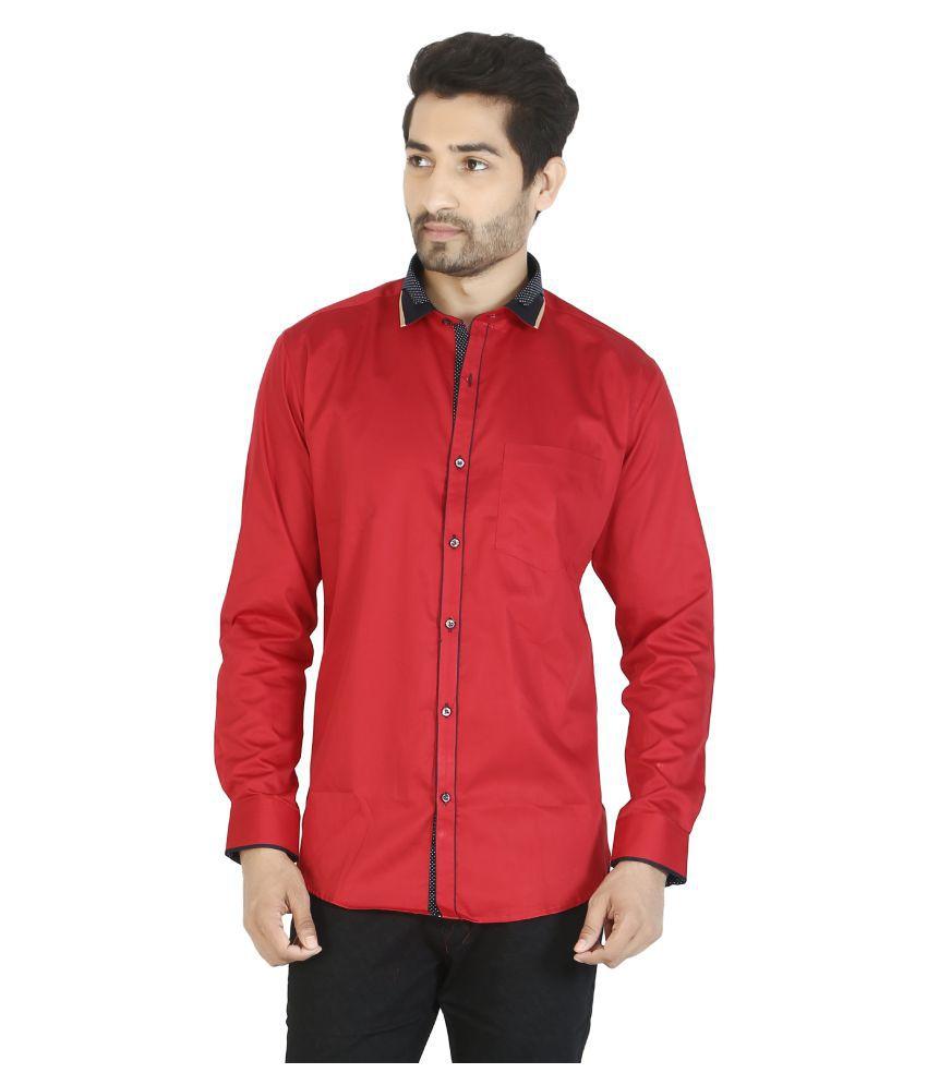 Ciara Red Partywear Slim Fit Shirt