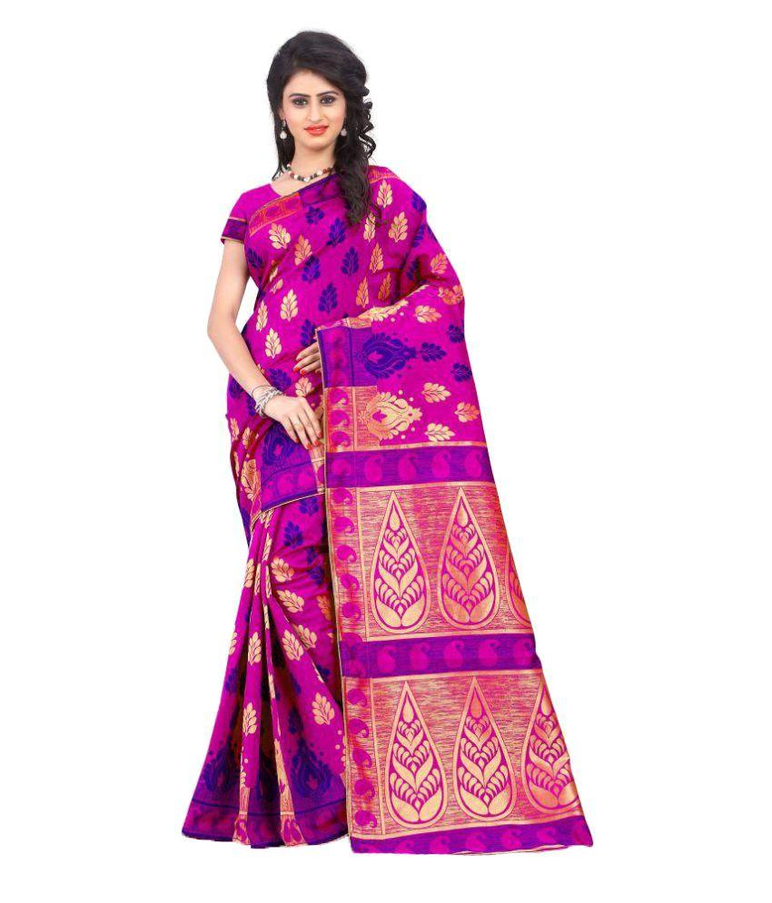 Thankar Pink Silk Saree