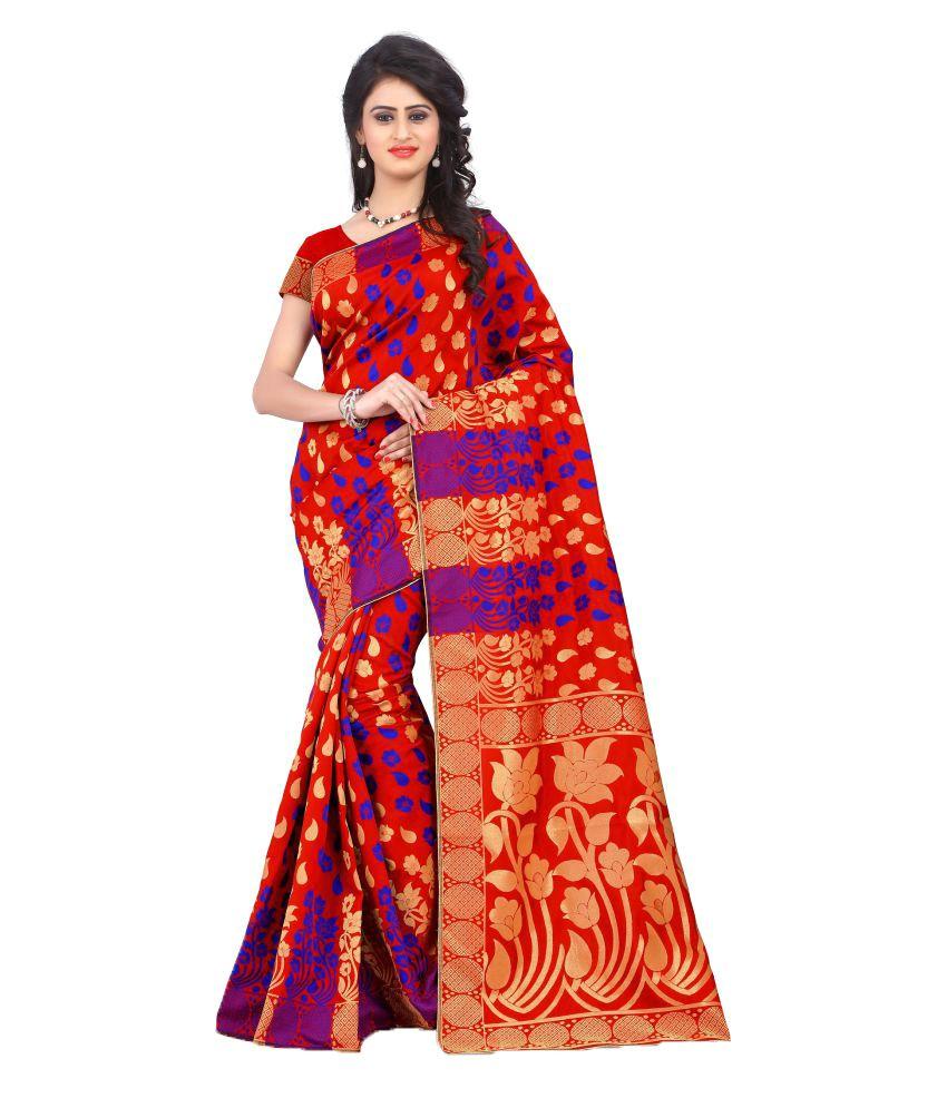 Fab Royal Red Banarasi silk Saree