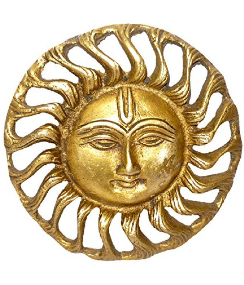 Brass Metal  Sun Wall Hanging Statue by Bharat Haat  BH01441