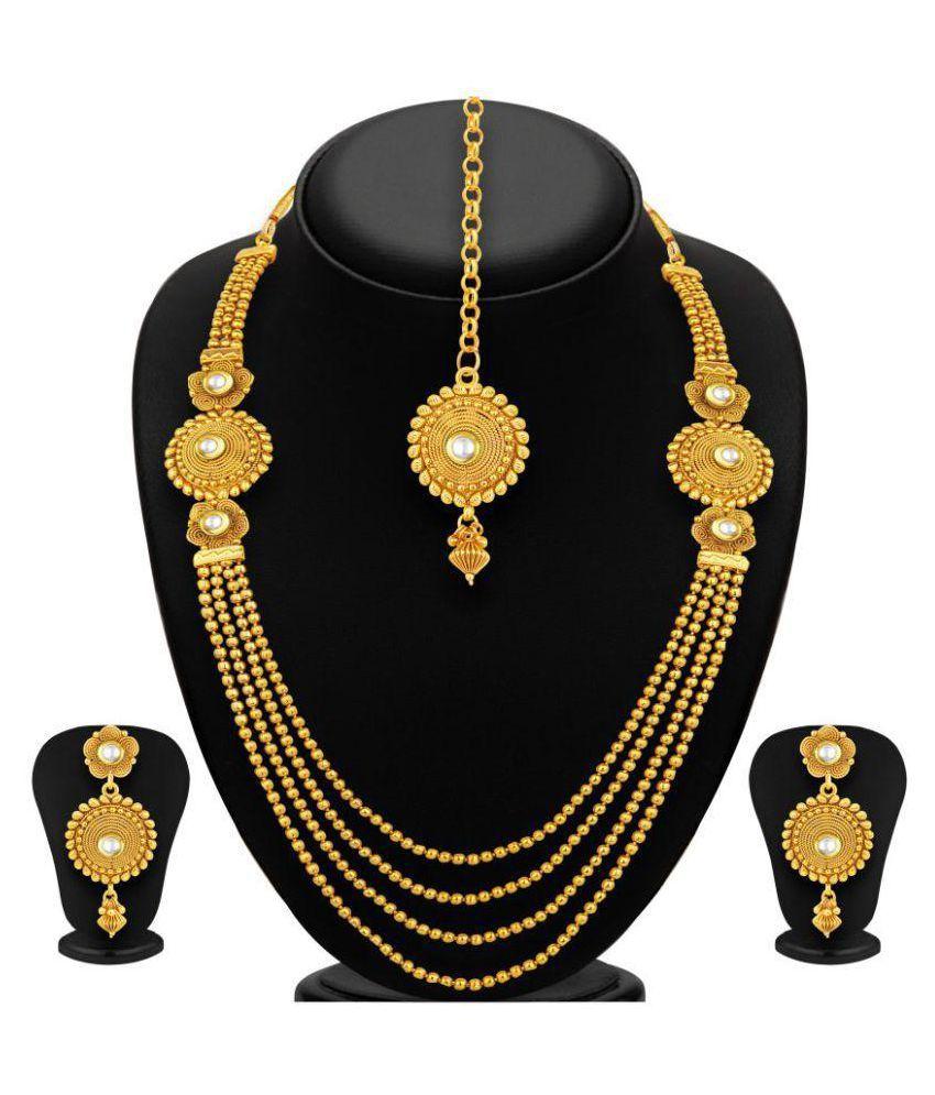Youbella Golden Necklace Set