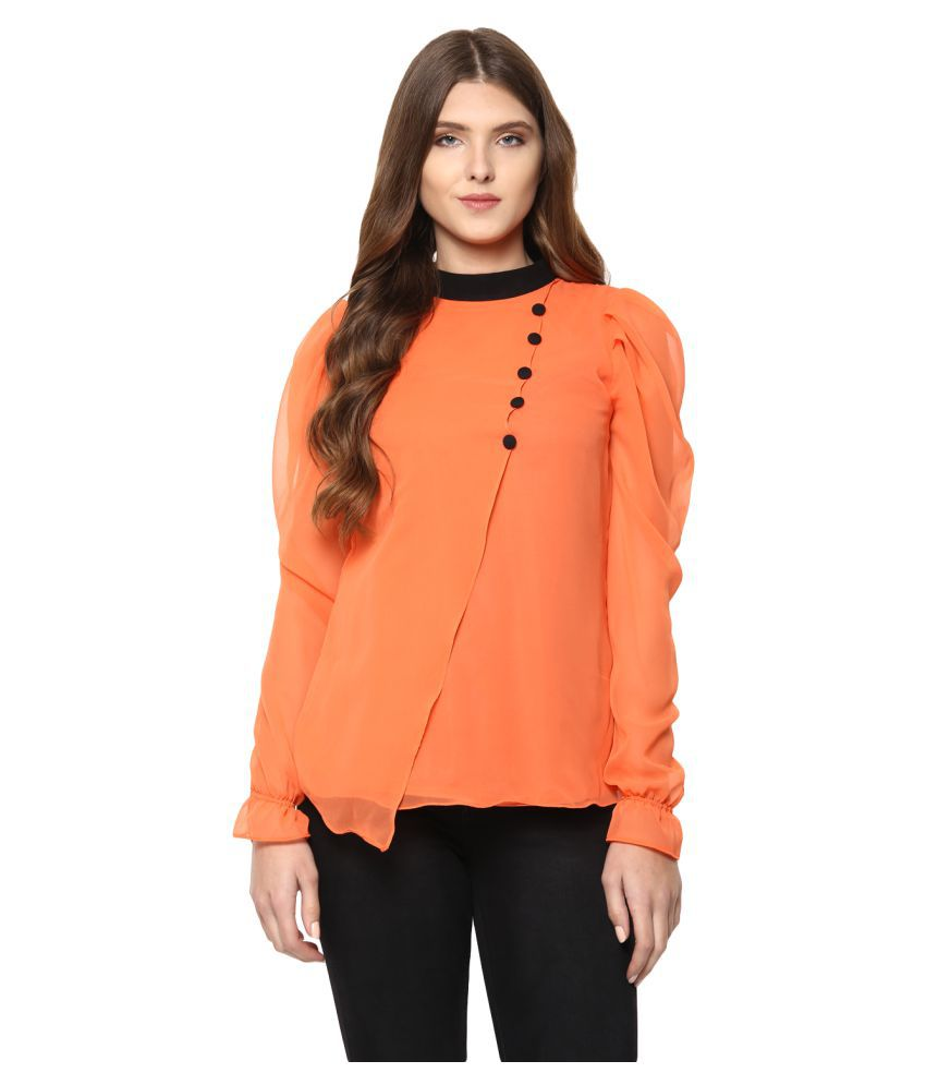 d64531ac888ea2 Lady Stark Georgette Asymmetrical Tops - Buy Lady Stark Georgette Asymmetrical  Tops Online at Best Prices in India on Snapdeal